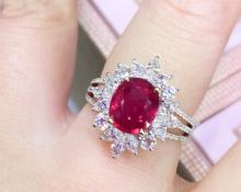 18K RUBY RING WITH GIA CERTIFICATE