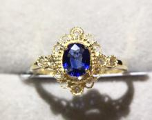 18K SAPPHIRE MALE RING
