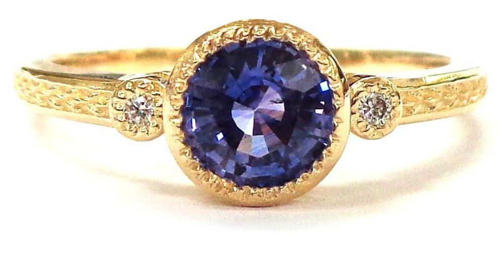 Lot 411: Purple sapphire 0.70 carat