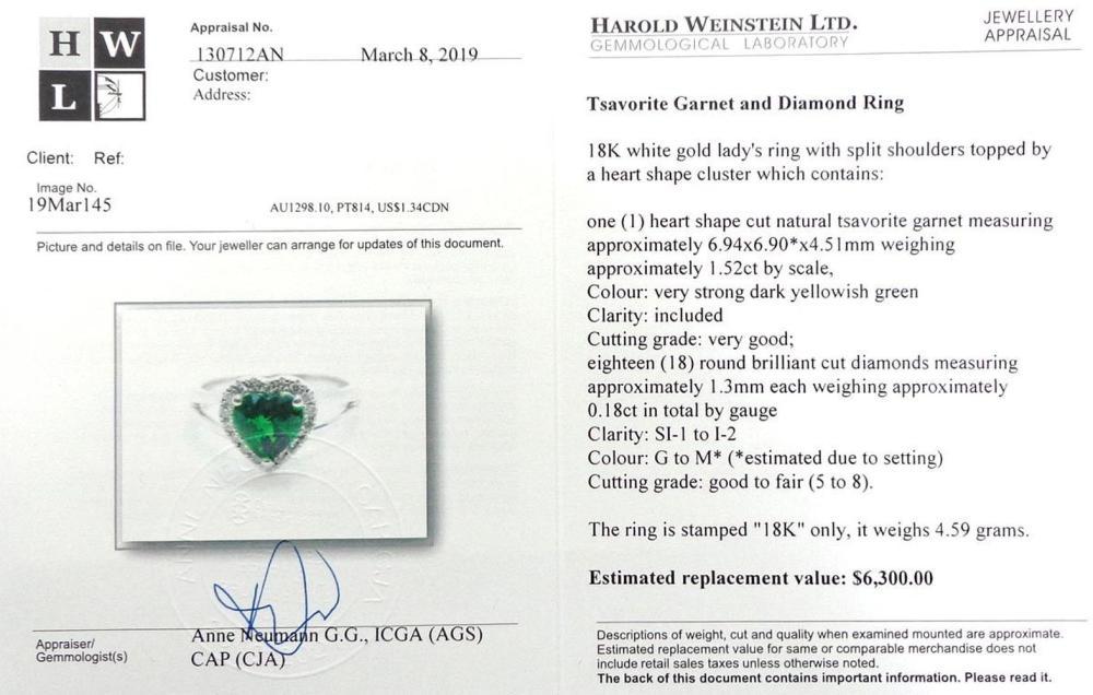 Lot 413: Tsavorite 1.52 carat