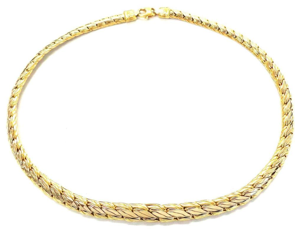 18 kt gold necklace
