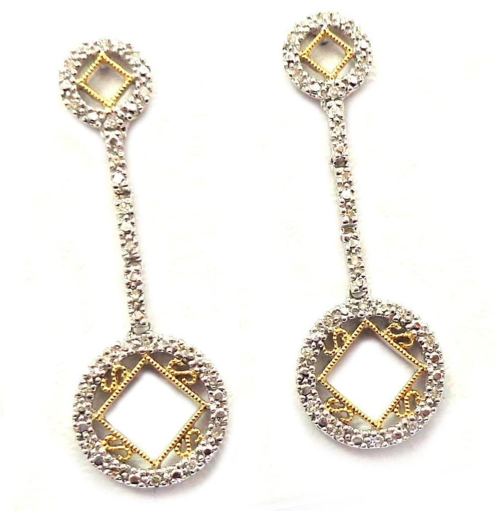 14 kt gold earrings