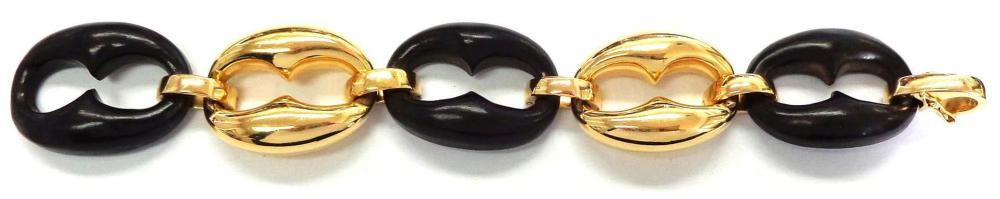 14 and 18 kt gold bracelet
