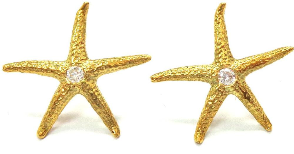 18 kt gold earrings