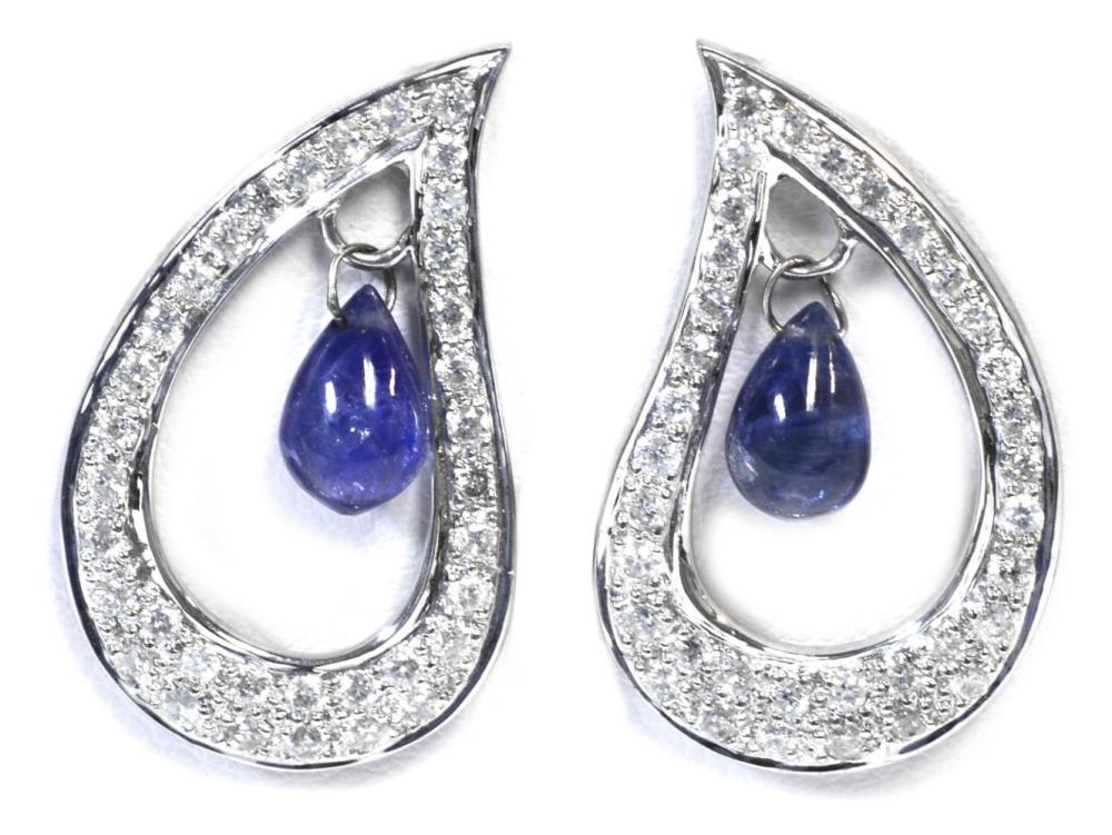 Sapphire drops 3.10 carats