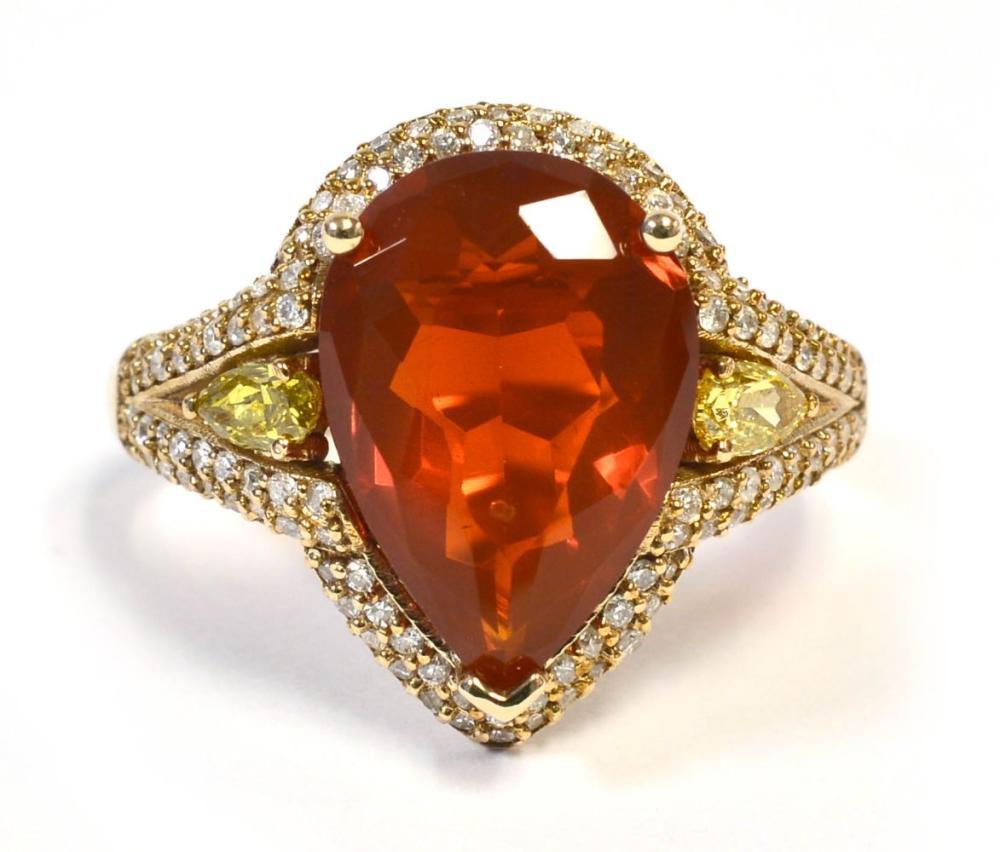 Fire opal 4.15 carat