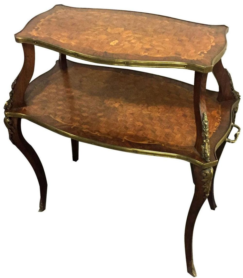 Louis XV-style 2-tier occasional table