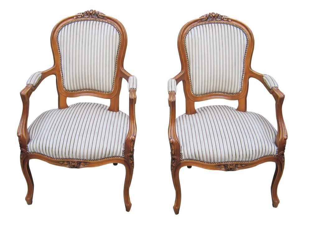Louis XV-style armchairs