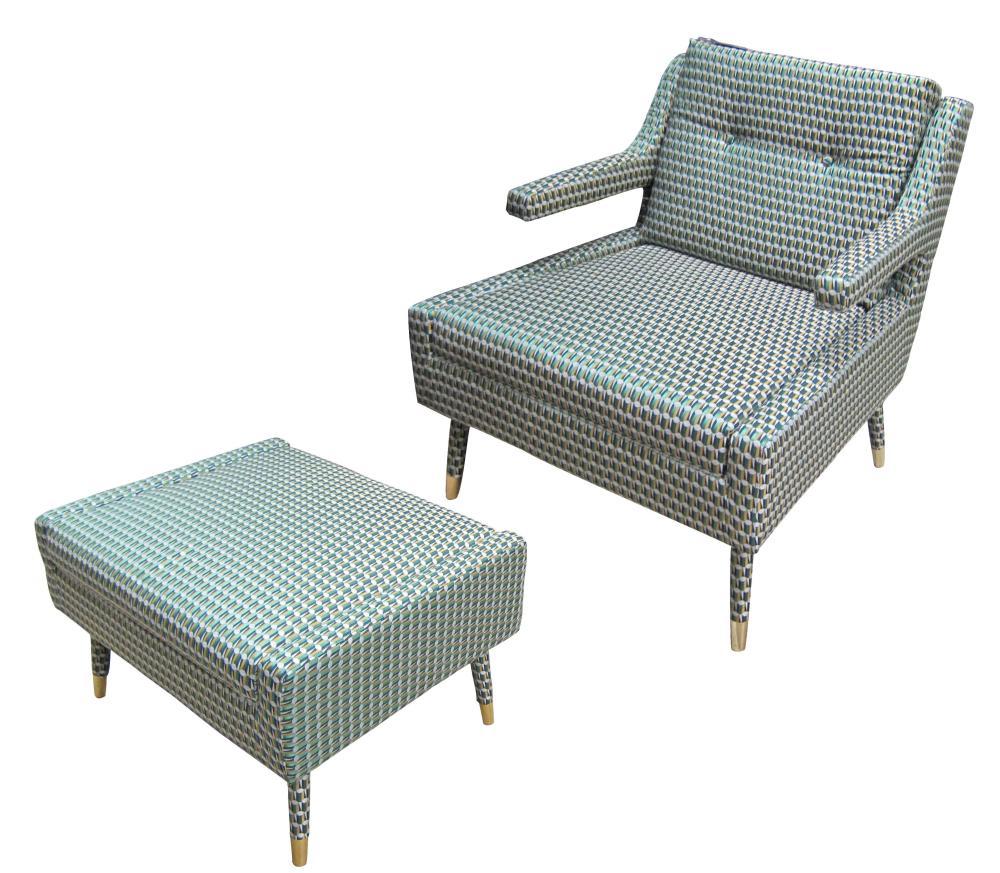 European Mid Century Modern-style armchair