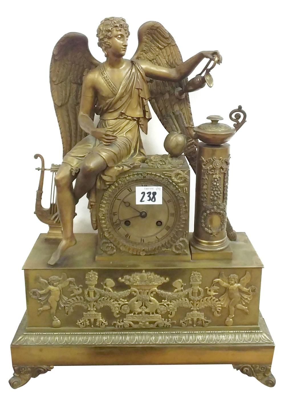 19th century gilt metal mantel clock