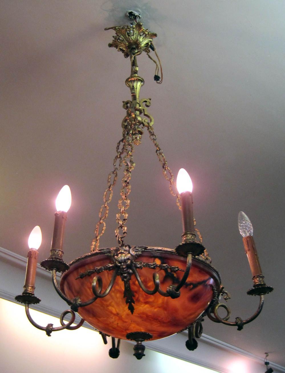 4-light bronze hanging fixture
