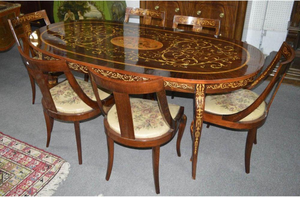 Fine 7-piece Italian dining set