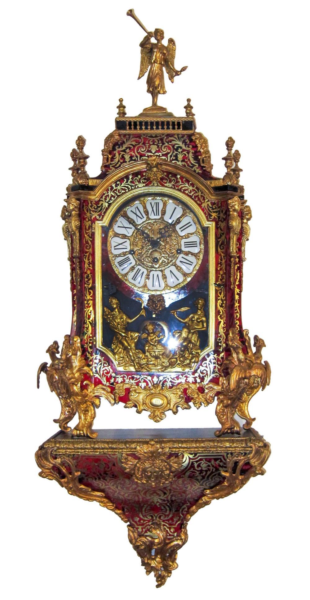 Boulle-style bracket clock