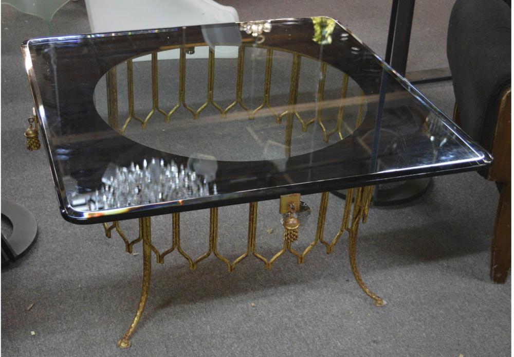 Vintage Italian gilt metal salon table