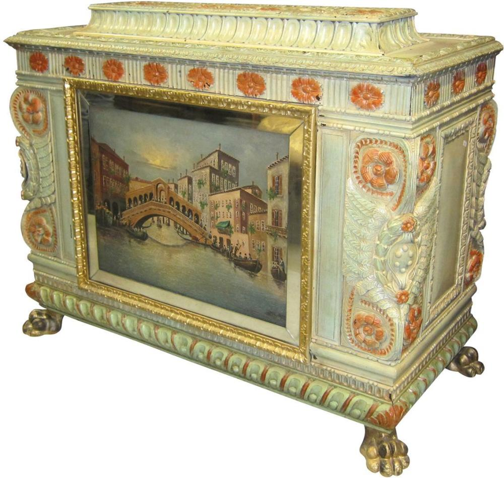 """Antique Italian lift-top """"cassone"""""""