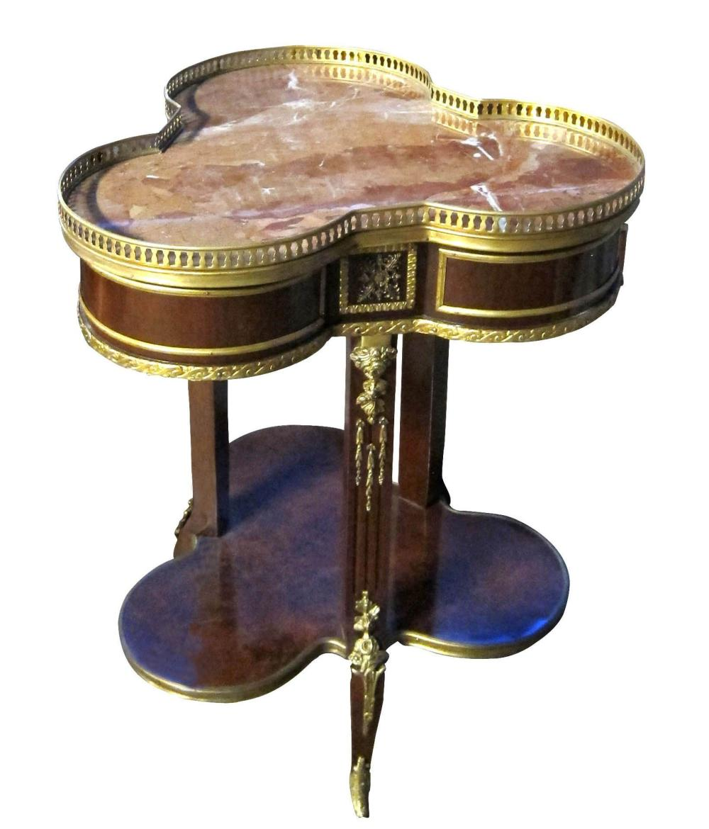Empire-style 2-tier occasional table