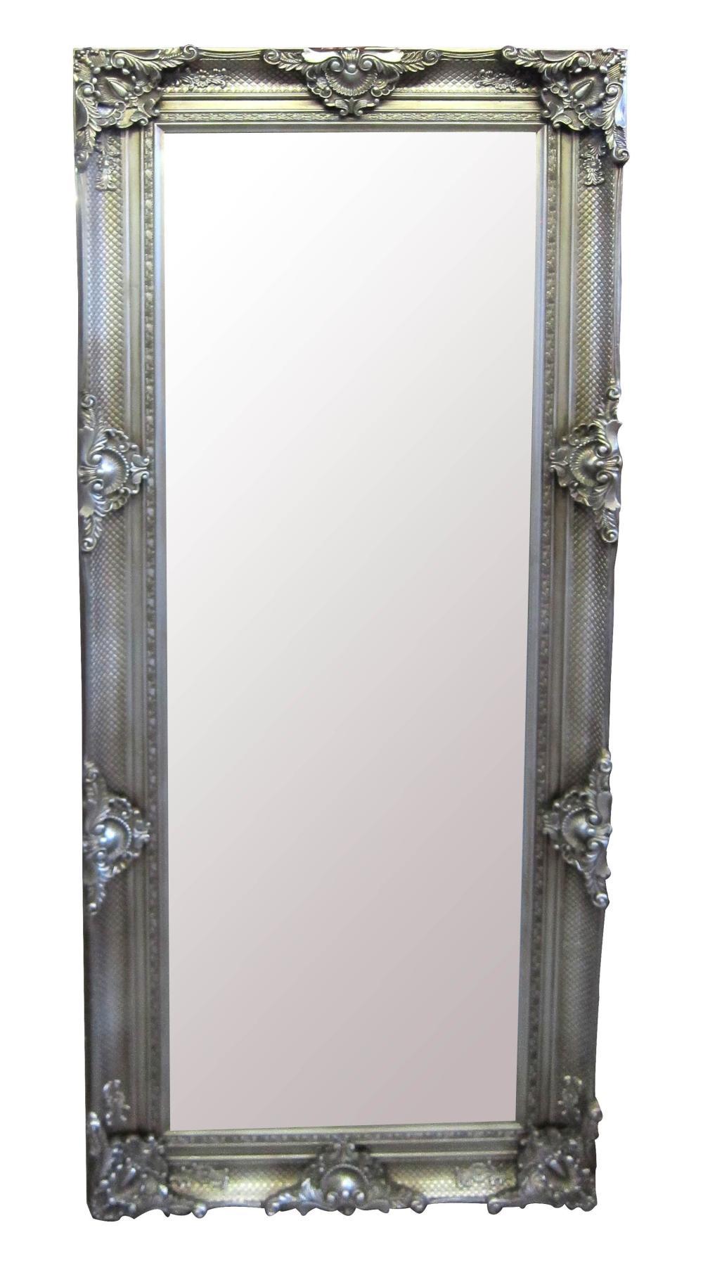 Rectangular wood-framed mirror