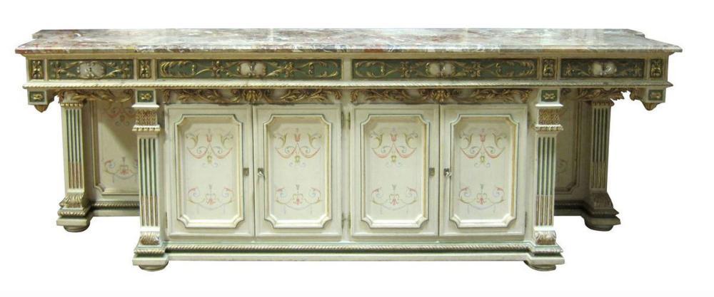 Italian marble-top sideboard