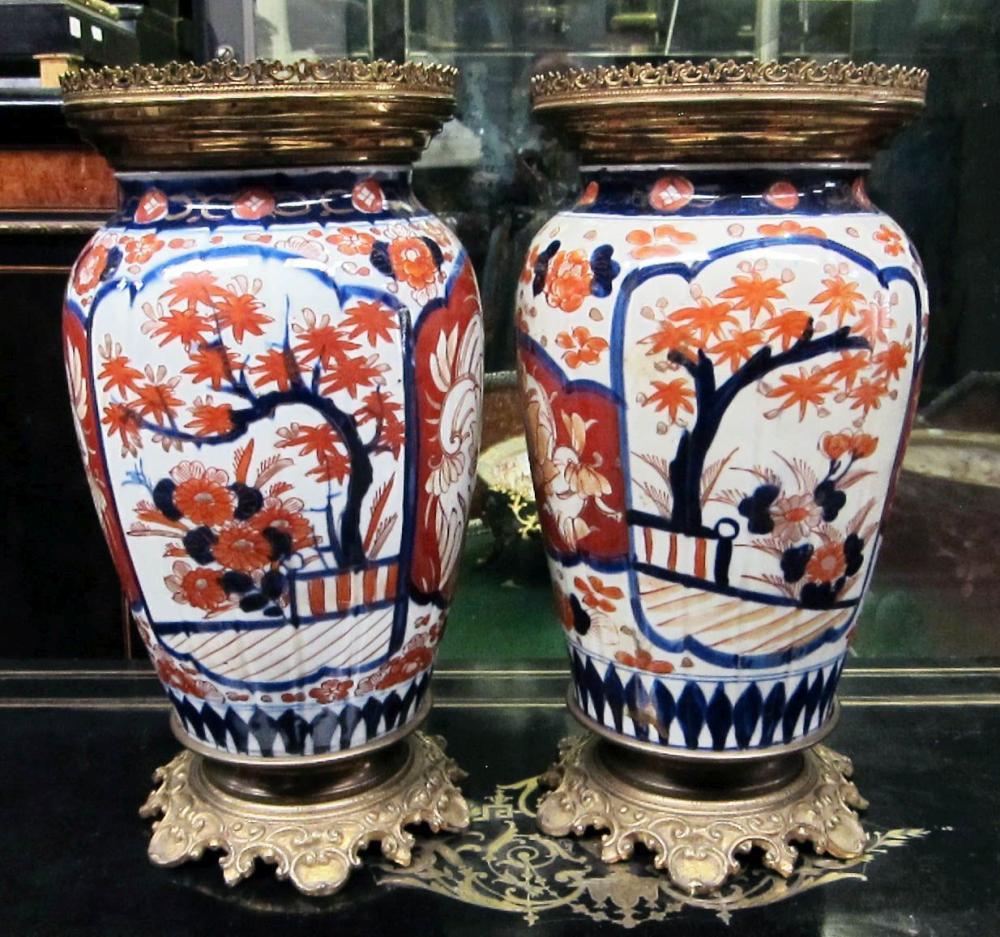 Imari porcelain vases