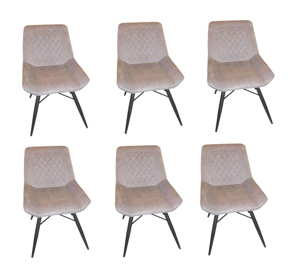 6 Modern design dining chairs