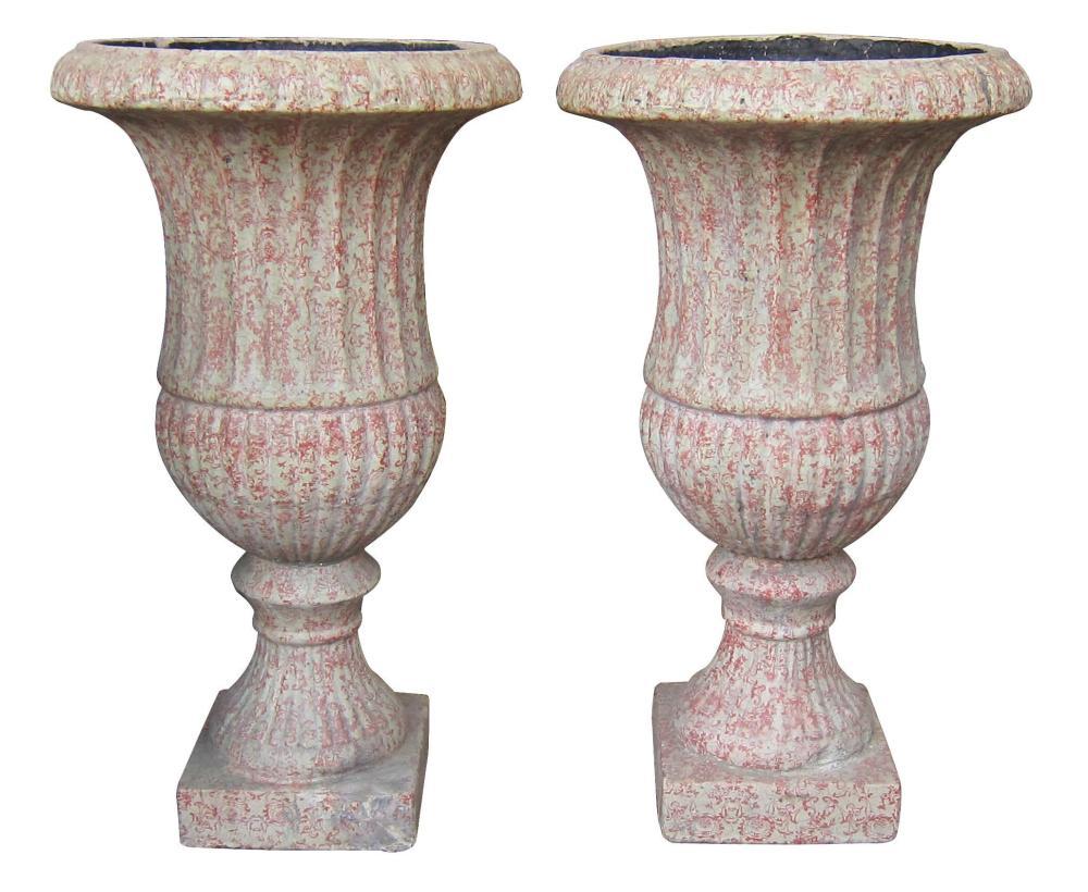 Pair of antique Italian terra cotta urns