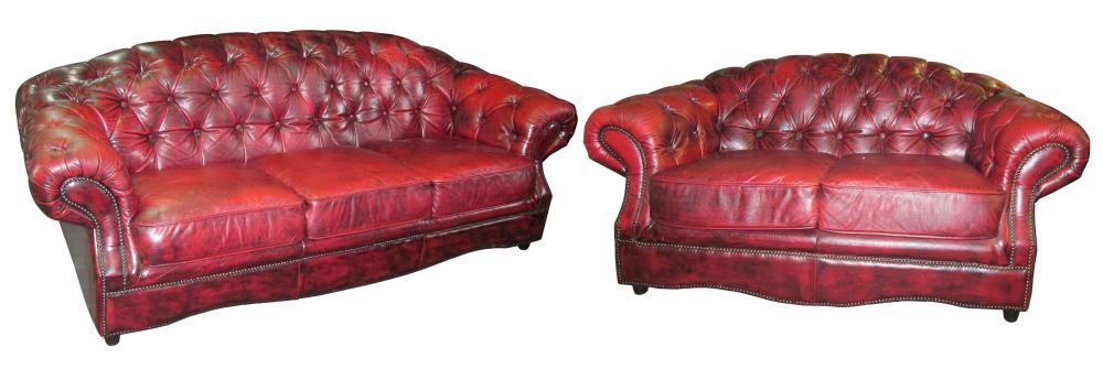 2-piece leather salon set