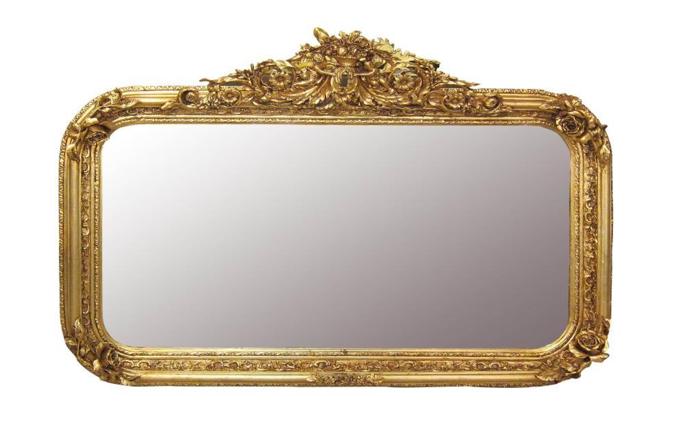 Rococo-style gilt framed mirror