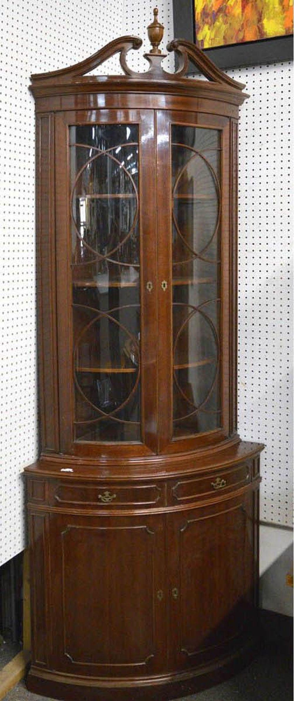 Antique Georgian-style corner cabinet