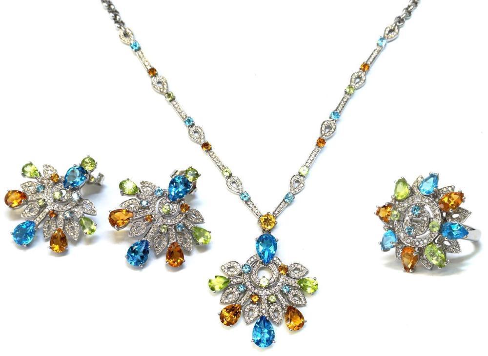 18 kt gold jewellery ensemble