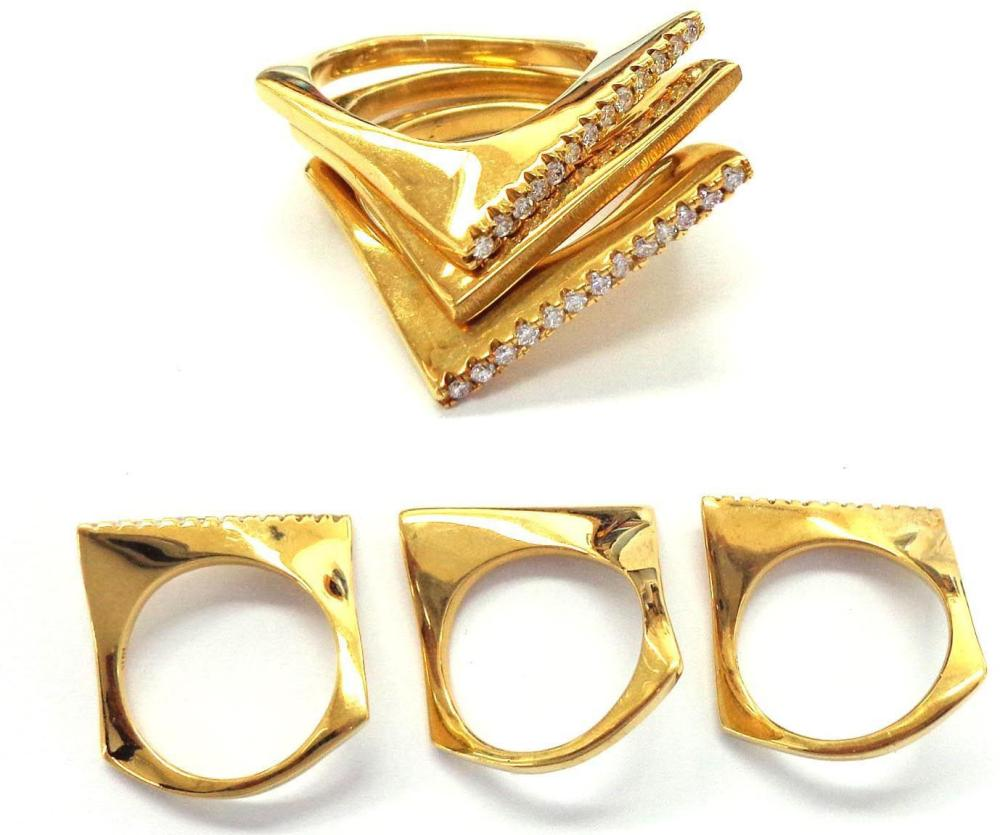 18 ky gold 3-piece ring