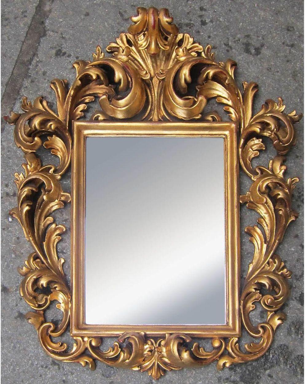 Vintage Florentine-style mirror