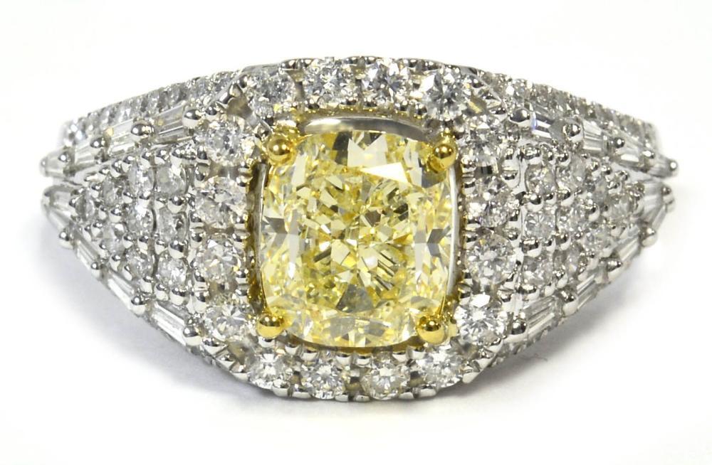 Fancy yellow diamond 1.51 carat