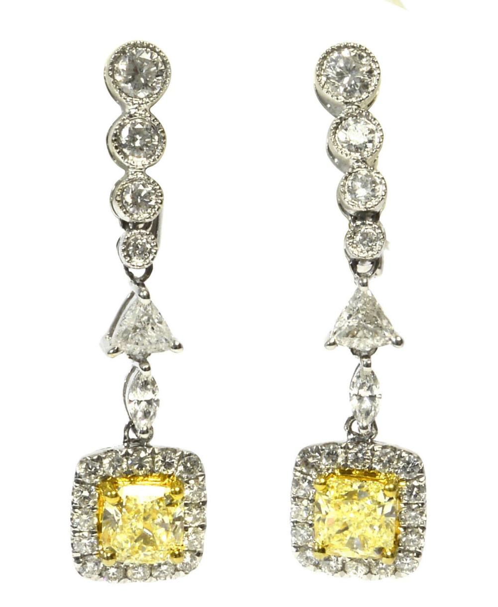 Fancy yellow diamonds 1.33 carats