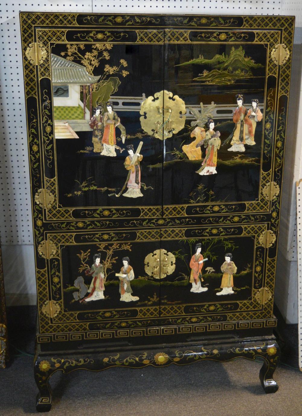 Vintage Chinese 4-door cabinet