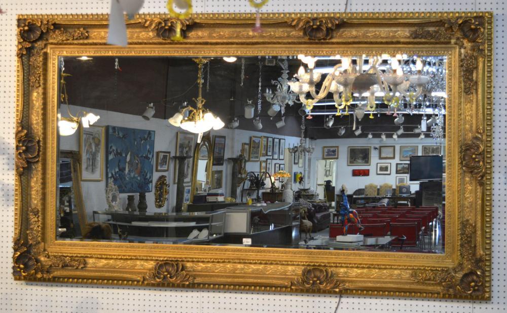 Rectangular giltwood mirror