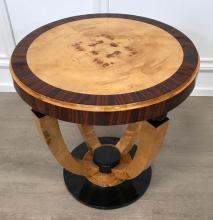 Lot 18: Art Deco style lemonwood table