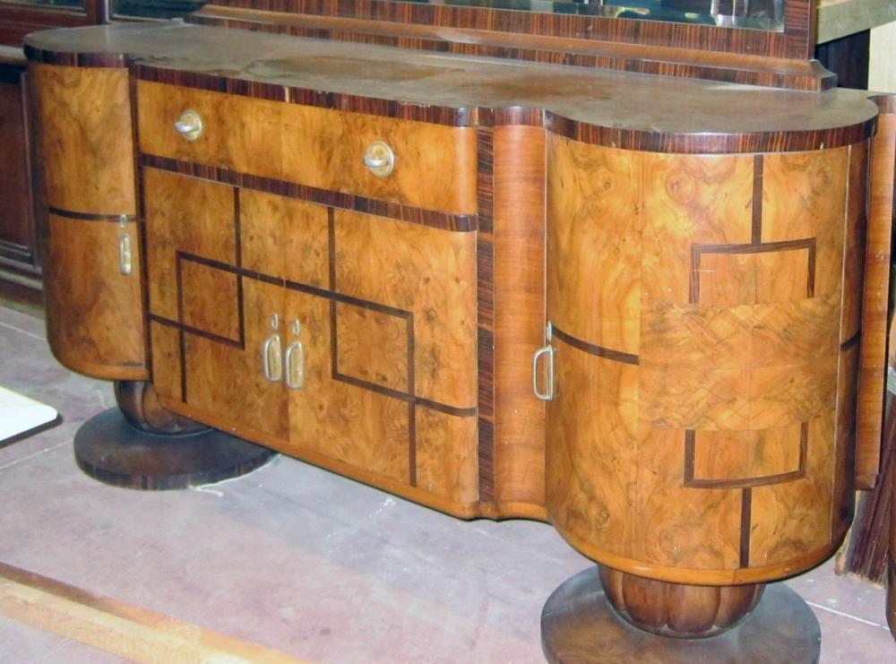 French Art Deco burlwood side board
