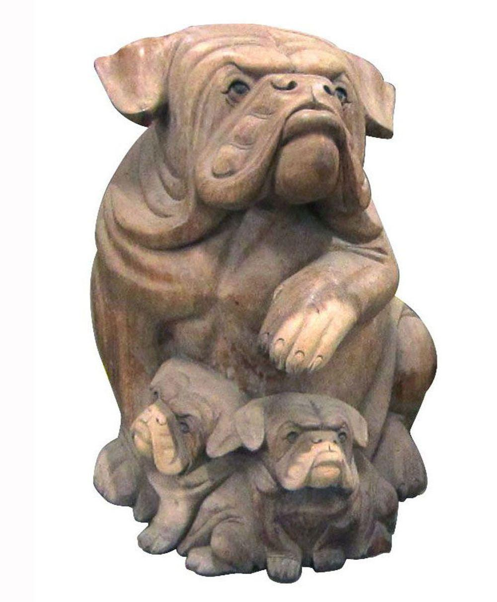 Bulldog sculpture