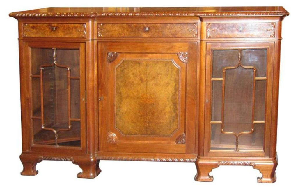 Lot 67: Chippendale-style sideboard