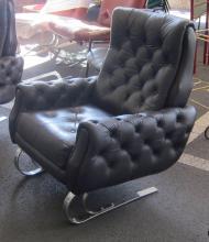 Lot 62: Vintage Italian design leather armchair