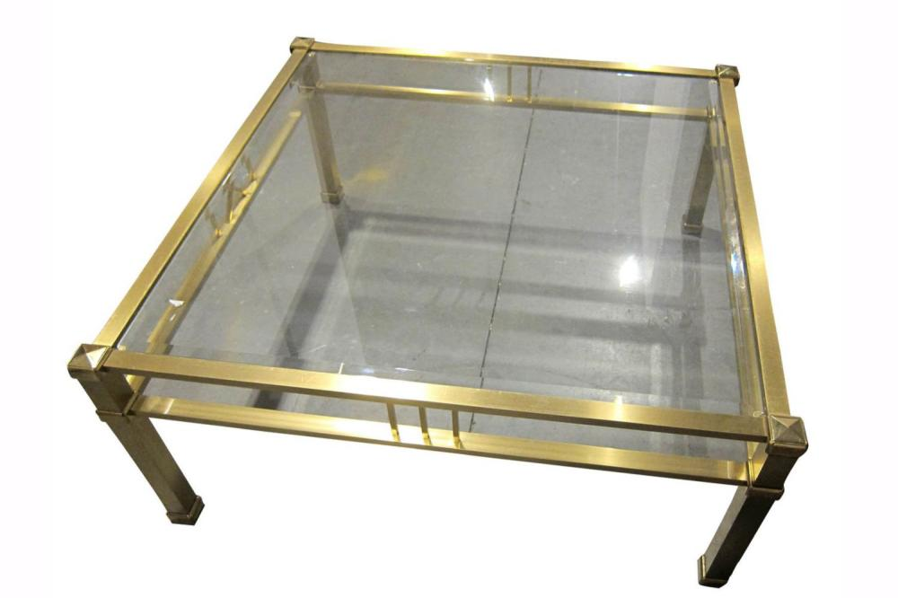Brass salon table