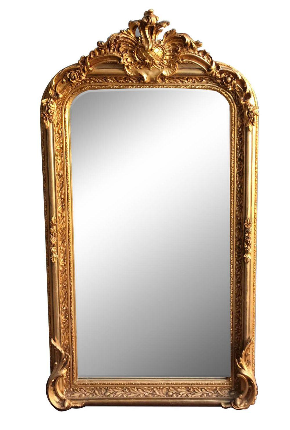 Lot 104: Louis XVI-style giltwood mirror