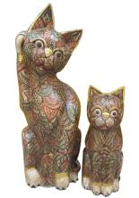 Lot 98: Lot of 2 wooden figures
