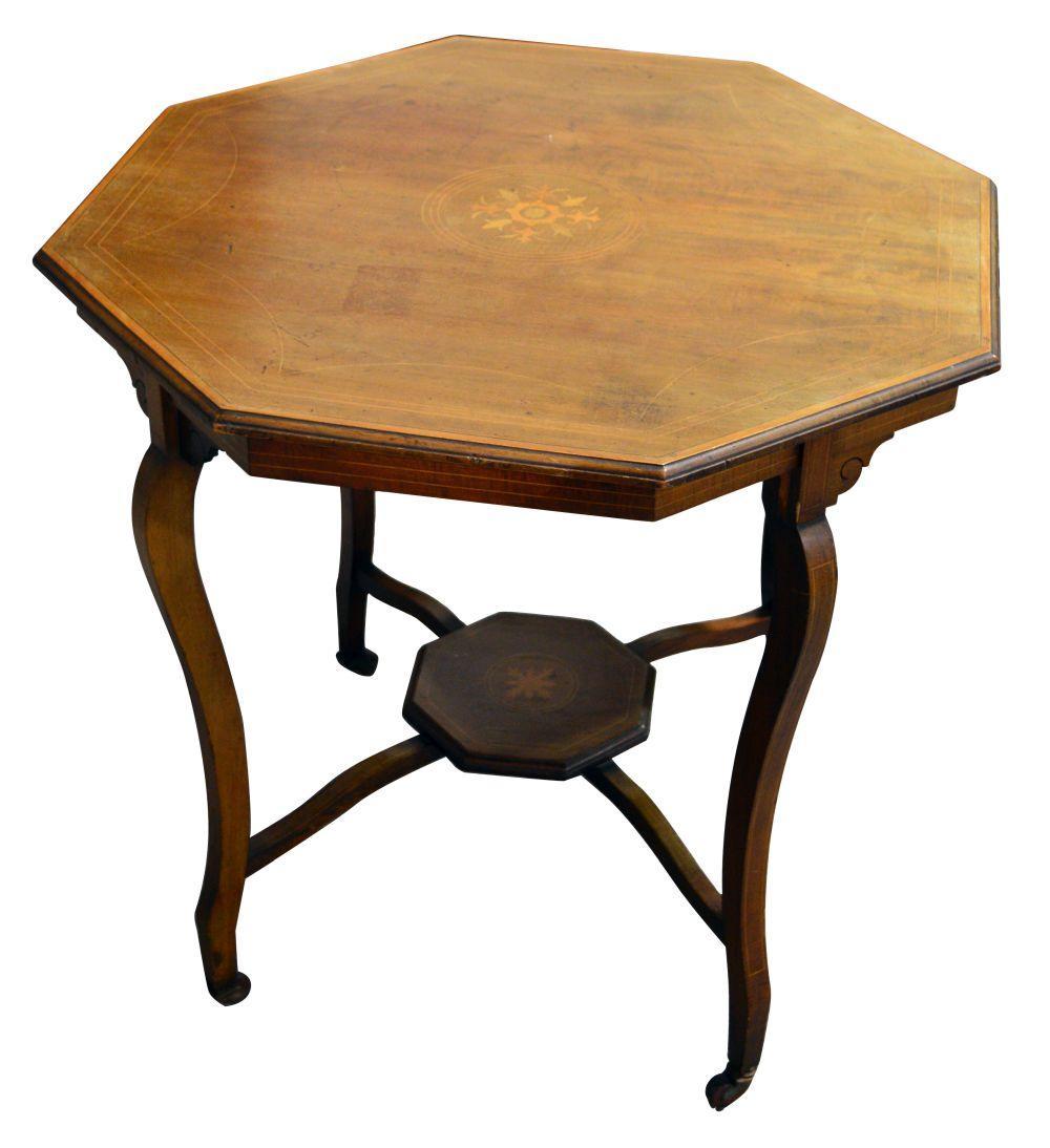 Lot 143: Mahogany Edwardian table