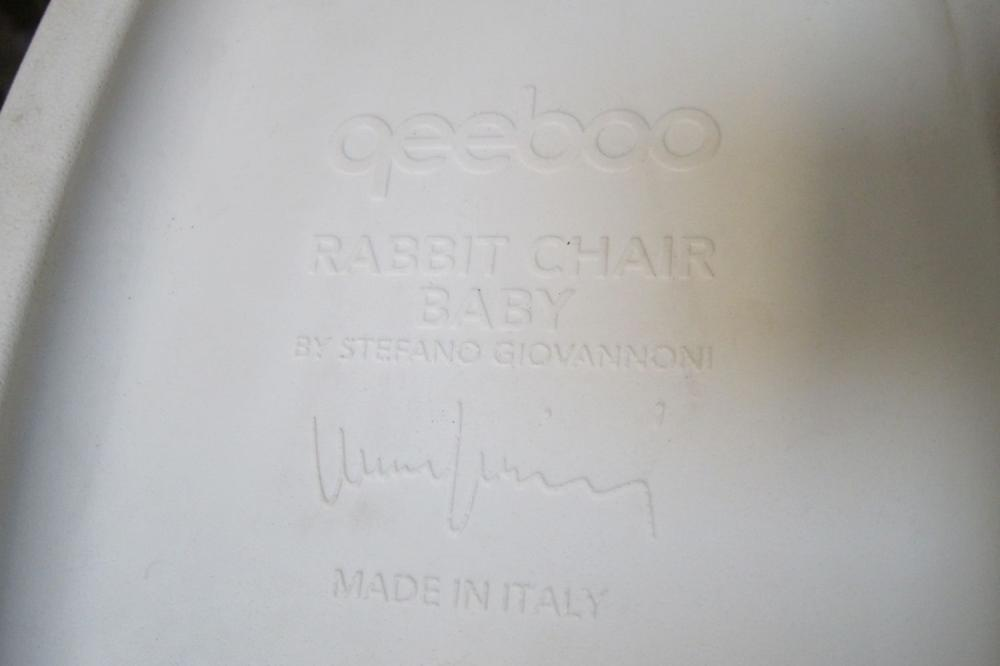 Lot 150: Child's rabbit chair in white