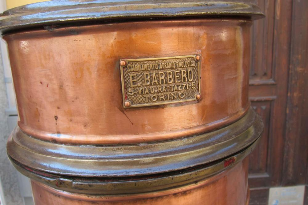Lot 120: Antique copper and iron wine filter