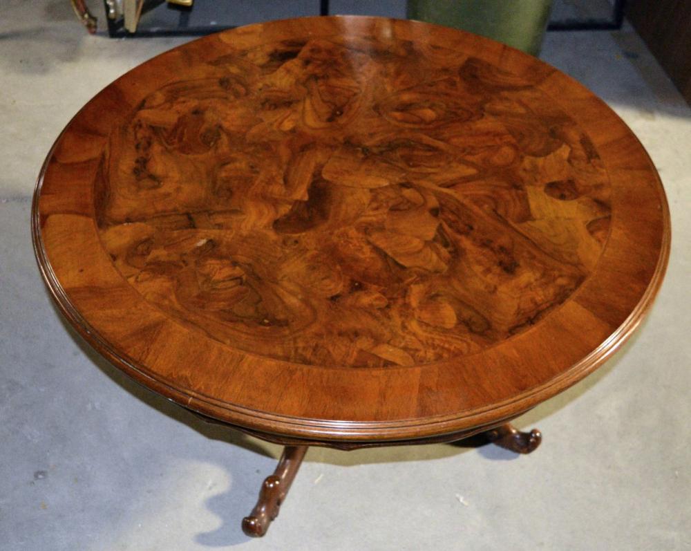 Lot 169: Burlwood coffee table