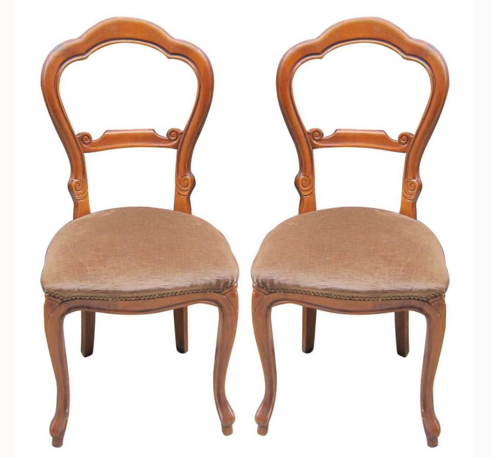 Lot 195: Pair of balloon-back chairs