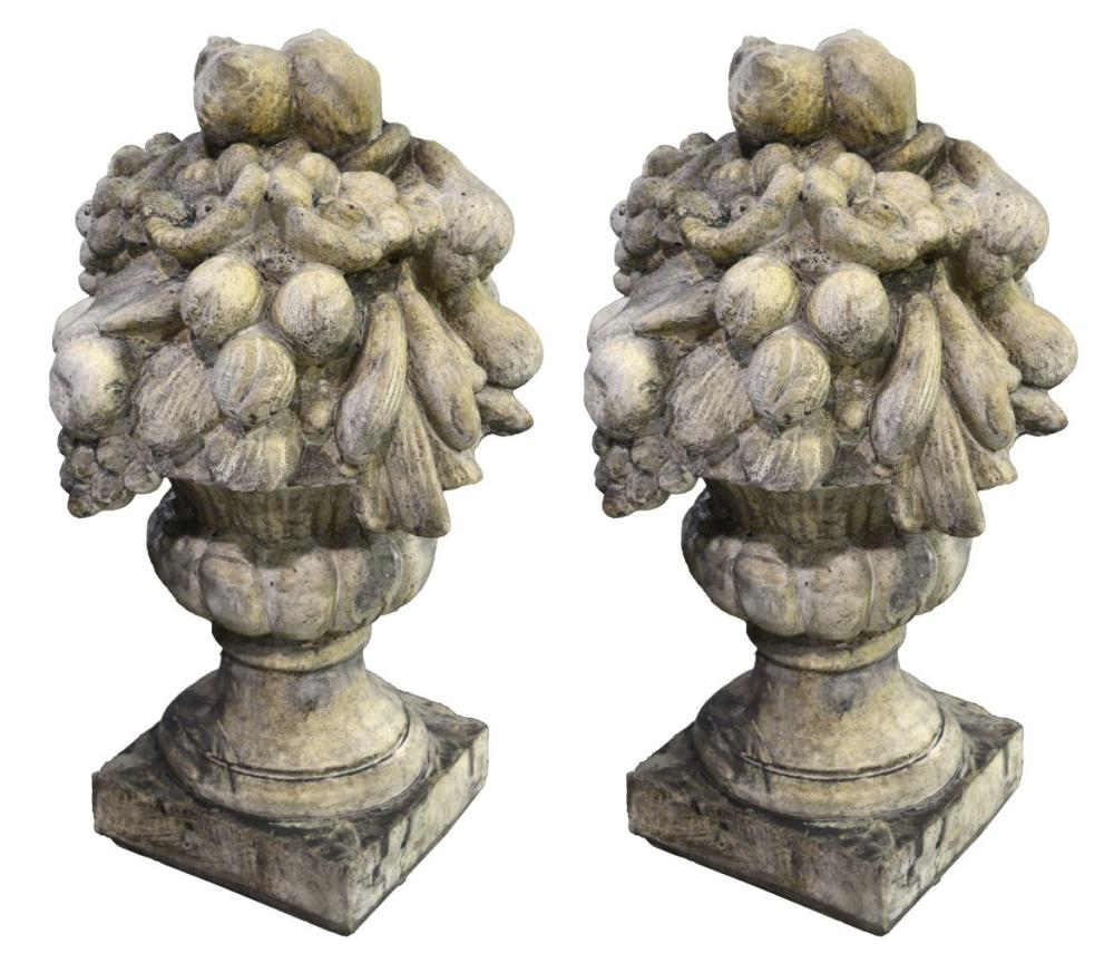 Pair of quartz stone sculptures