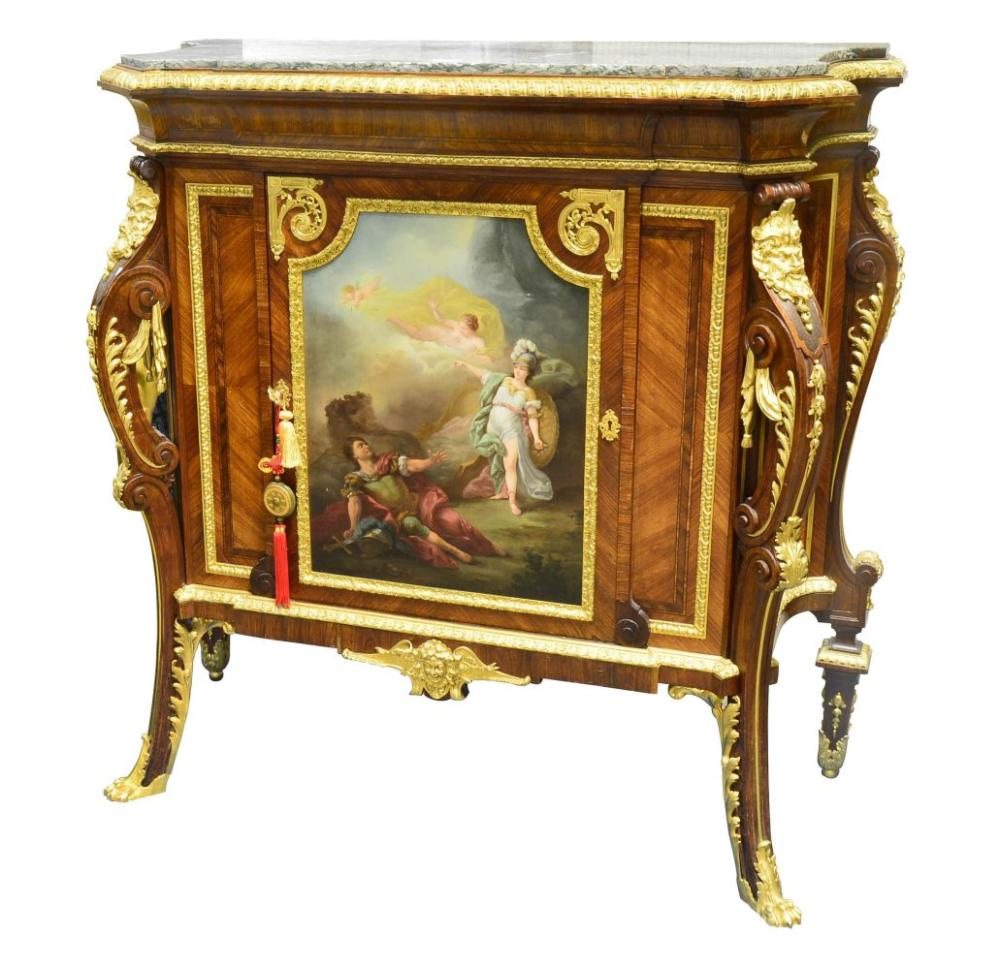 Marble-top cabinet